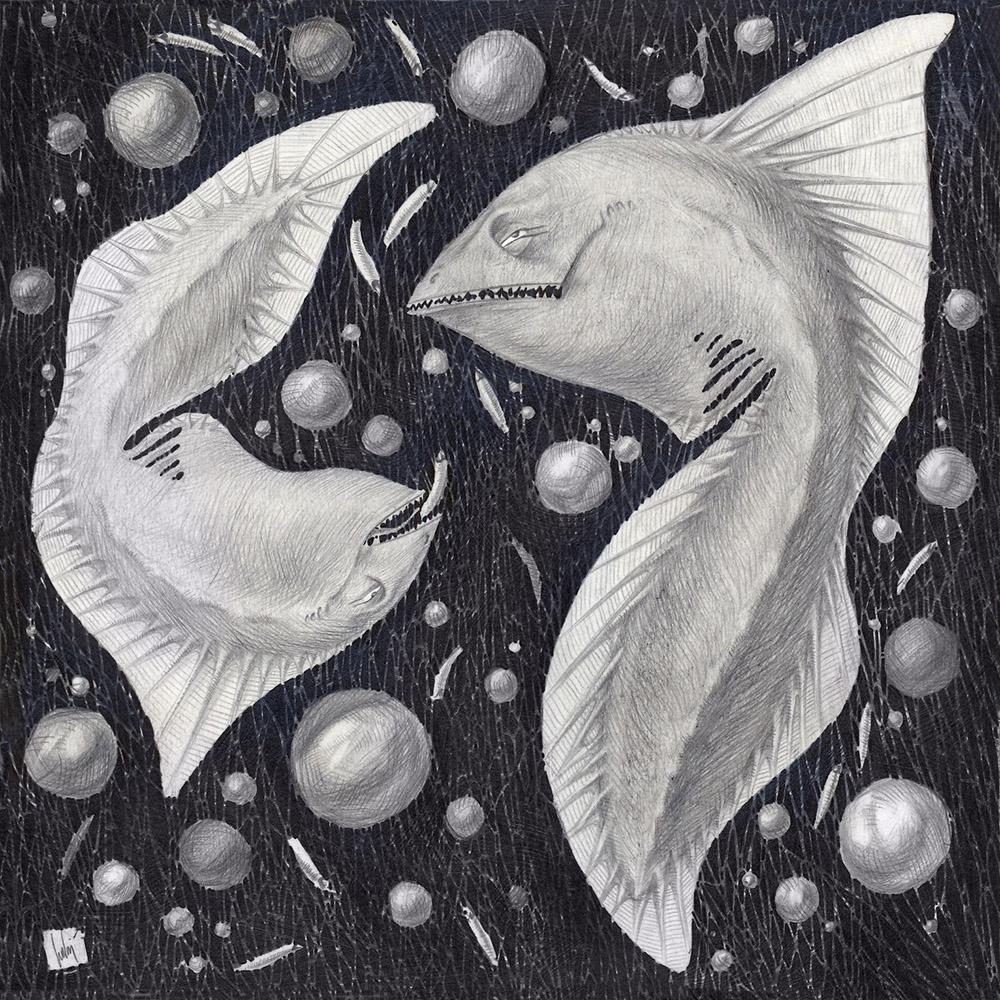 Fish eat maggots in deep waters